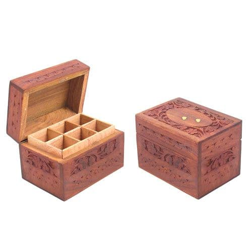 Oil Storage Boxes - Carved Pattern